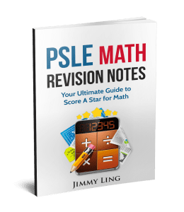 PSLE Math Revision Notes 3d book cover
