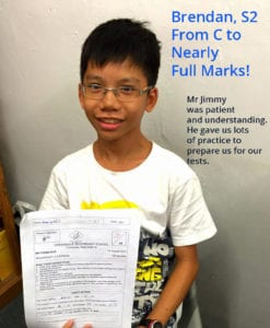 Brendan - From C to nearly full marks!